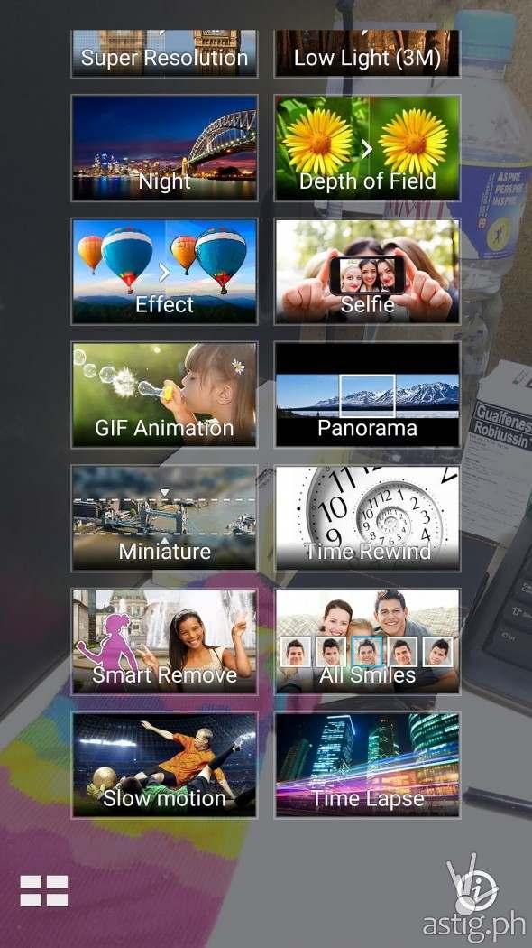 Asus Zenfone Back Camera Features