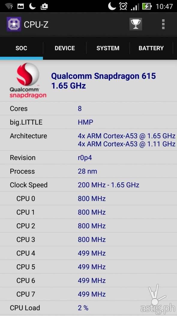 CPU-Z Results SOC
