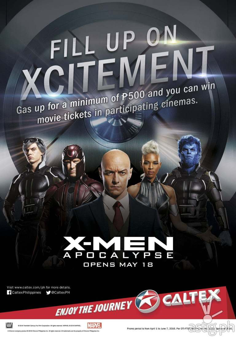 Caltex Xhilarates X-men Fans