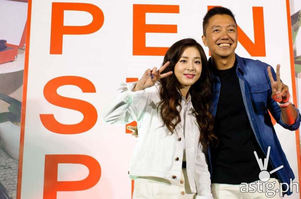 Sandara Park with Penshoppe Brand Director Jeff Bascon