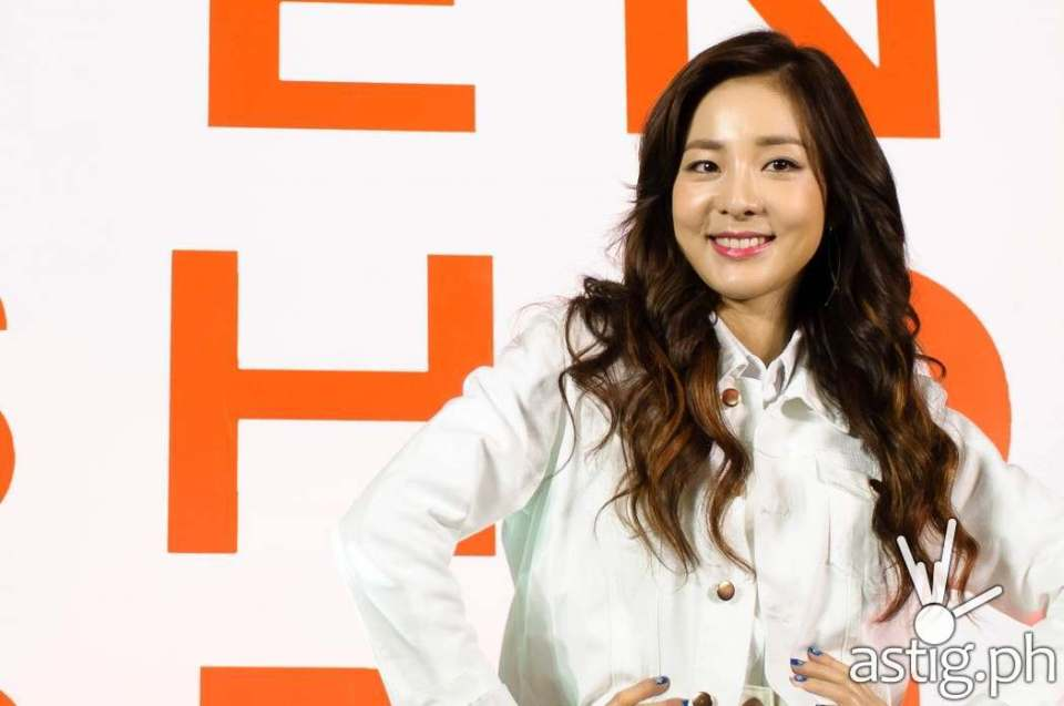 Sandara Park at the Penshoppe media event