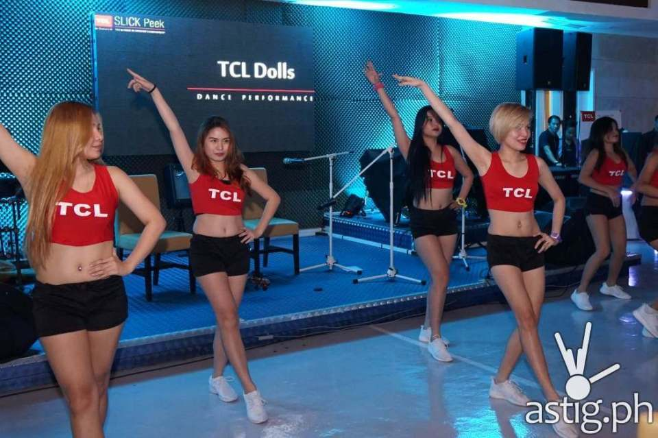 TCL Dolls, the official cheer dancing group of TCL in the PBA
