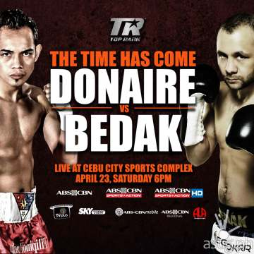 The time has come for Donaire to raise the championship belt once more