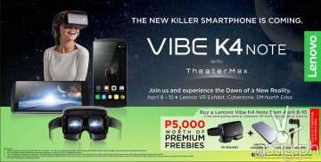Vibe K4 Note promo announcement