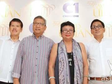 In photo (l-r) Manunuri ng Pelikulang Pilipino (MPP) members Mario Hernando, Nic Tiongson, Grace Alfonso, and Tito Valiente