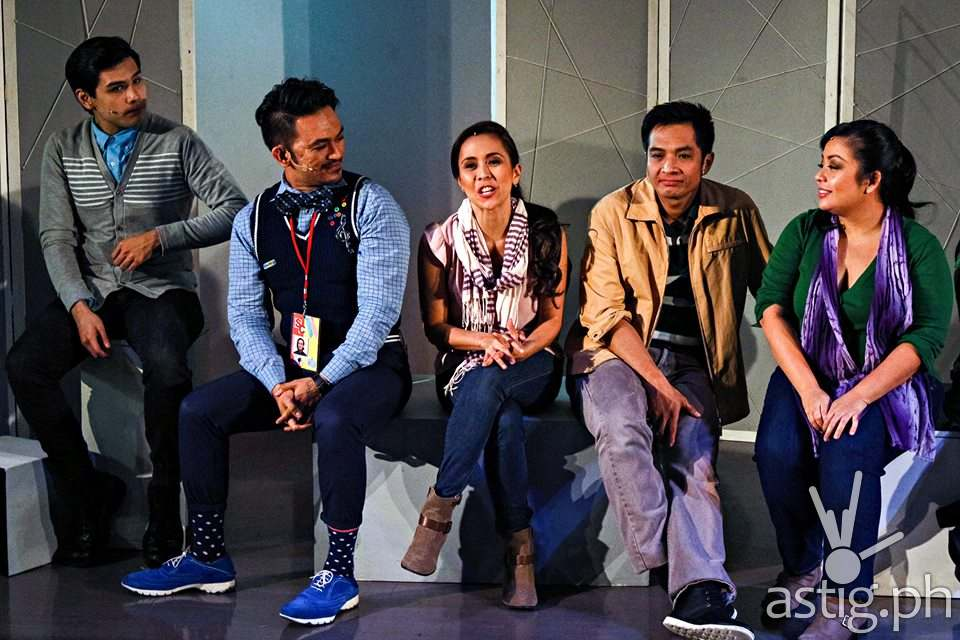 (L-R) Bibo Reyes, Onyl Torres, Rachel Alejandro, Noel Rayos and Teenee Chan