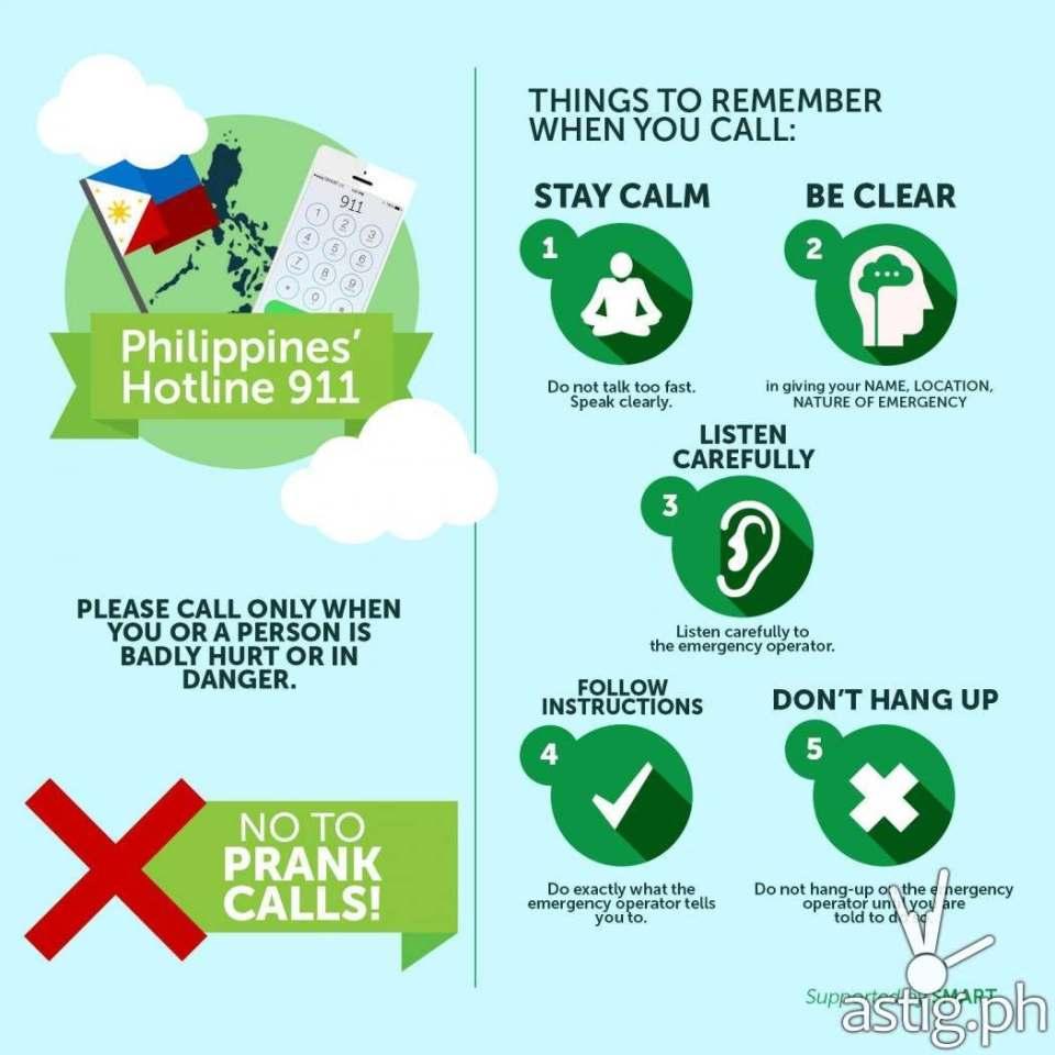 INFOGRAPHIC: 911 Philippines emergency hotline