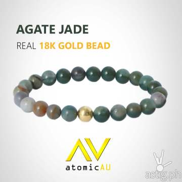 AtomicAU gold accessories for men