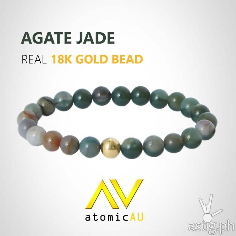 AtomicAU gold accessories for men