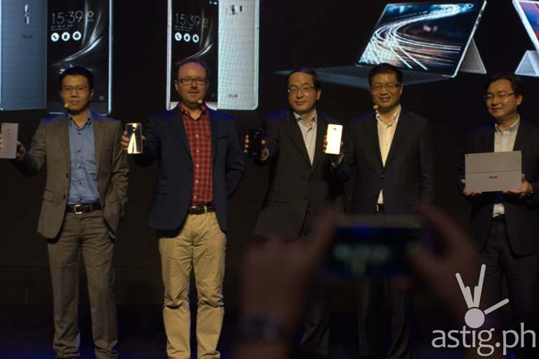 ASUS CEO Jerry Shen and execs showcase the new ZenFone 3 and ZenBook 3 series of mobile devices