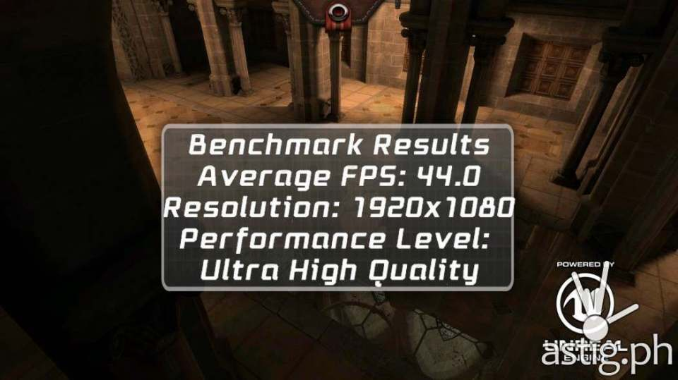 Epic Citadel 3D gaming benchmark results - ASUS ZenFone 3