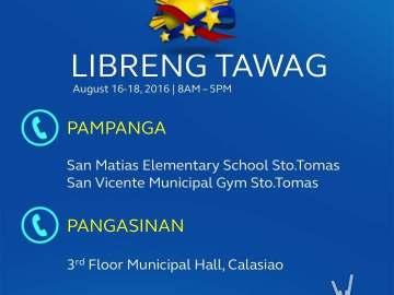 Globe Libreng Tawag Pampanga and Pangasinan