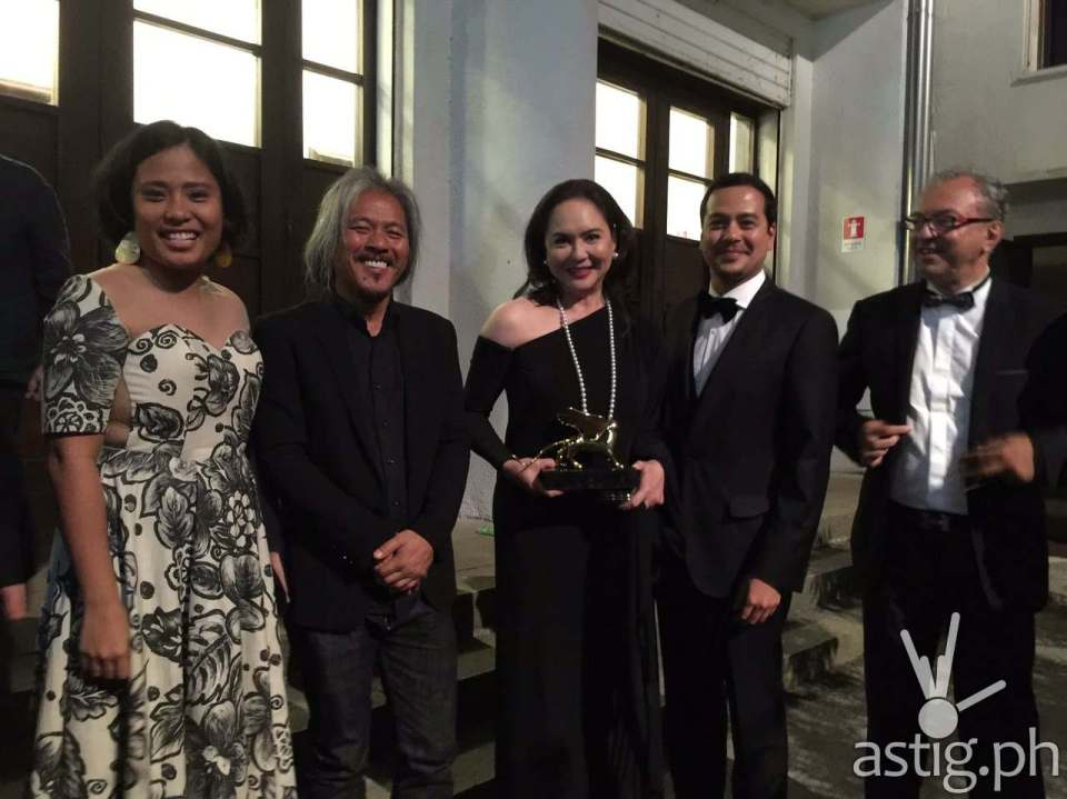 Lav Diaz with Charo Santos and John Lloyd Cruz