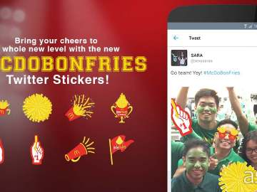 McDonalds BonFries Twitter stickers