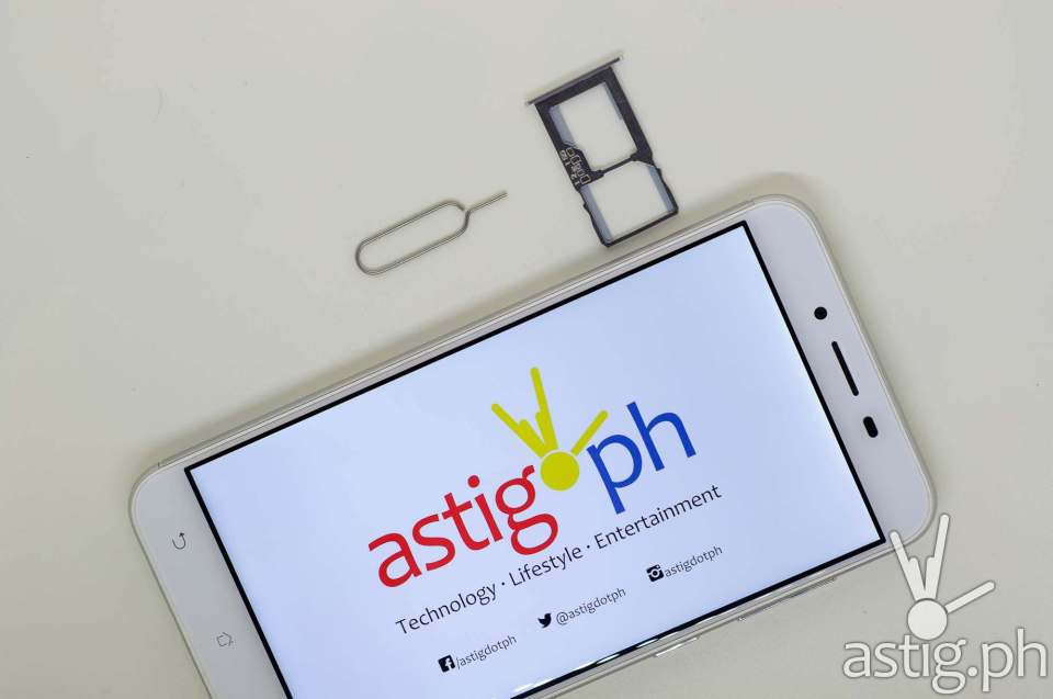 Removable dual sim tray - ASUS Zenfone 3 Max 5.5
