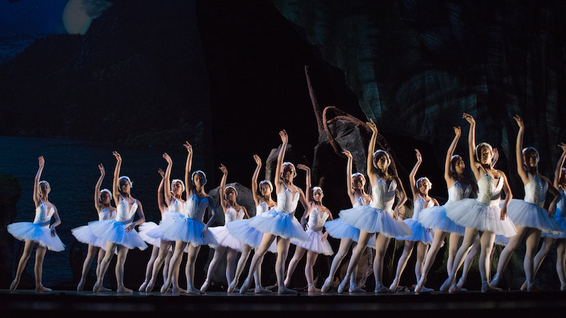 The corps de ballet in Ballet Philippines' Swan Lake
