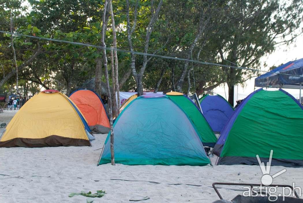 Glamping and camping sites at Partakan Festival 2017