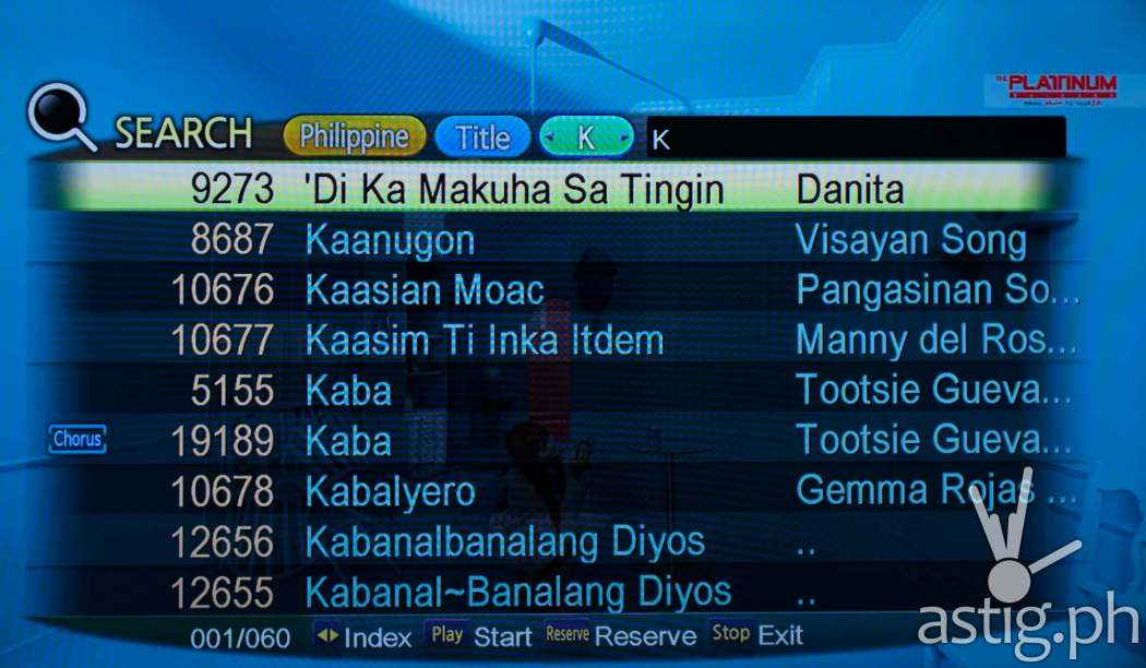 Platinum Alpha features songs in Tagalog, Visayan, and Pangasinan