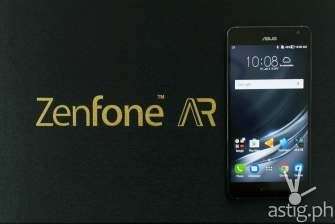 ASUS Zenfone AR front with media box