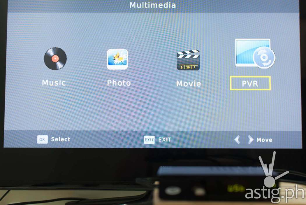 Multimedia player menu - WOW TV Box