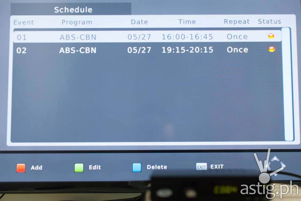 You can schedule recordings of live television broadcasts on the WOW! TV Box