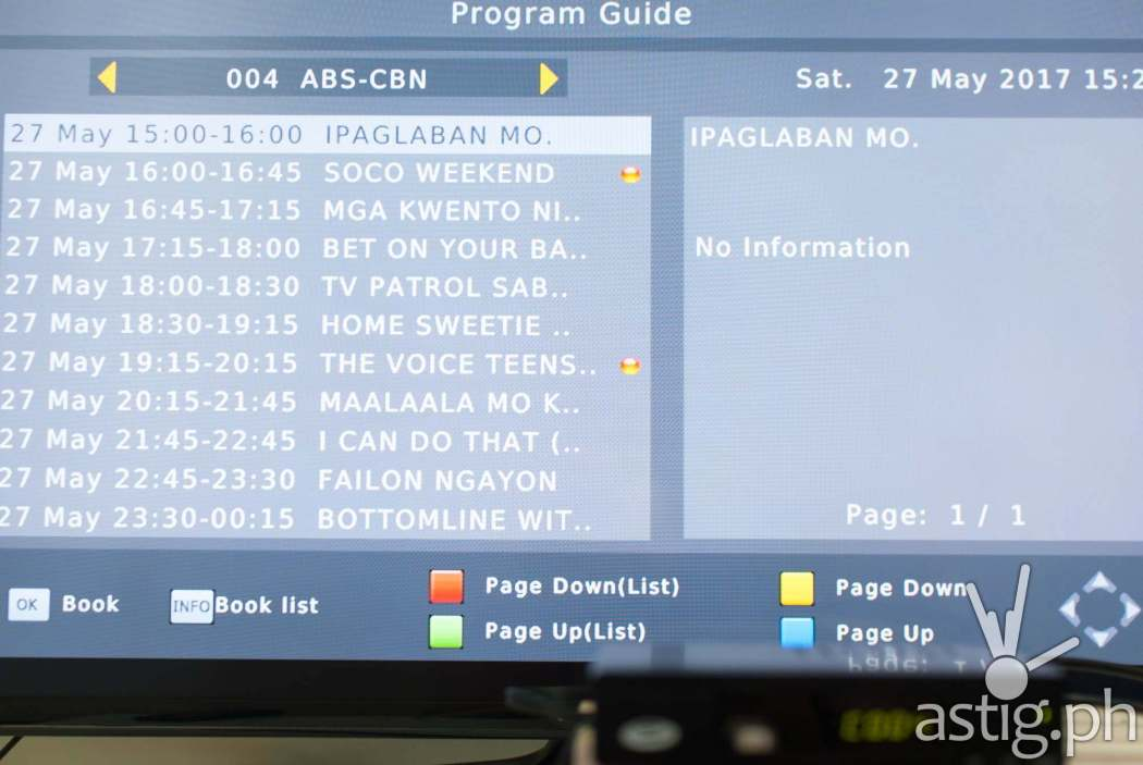 Electronic program guide (EPG) - WOW! TV Box