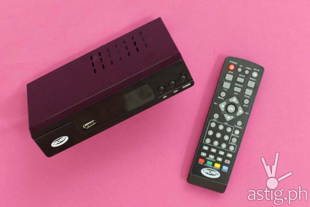 WOW TV Box and remote control
