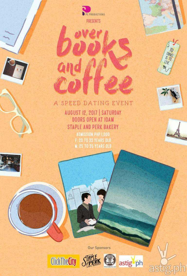 Over Books and Coffee event poster