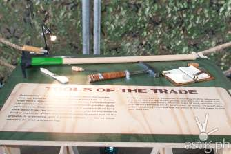 Archaeological tools - Dinosaurs Around The World exhibit - Mind Museum BGC