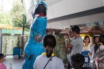 Dinosaur mascot - Dinosaurs Around The World exhibit - Mind Museum BGC