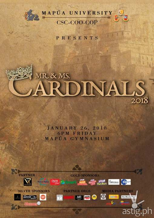 Mapua Mr Ms Cardinals poster