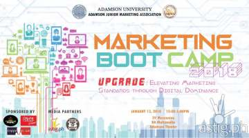 Marketing Boot Camp 2018 event poster