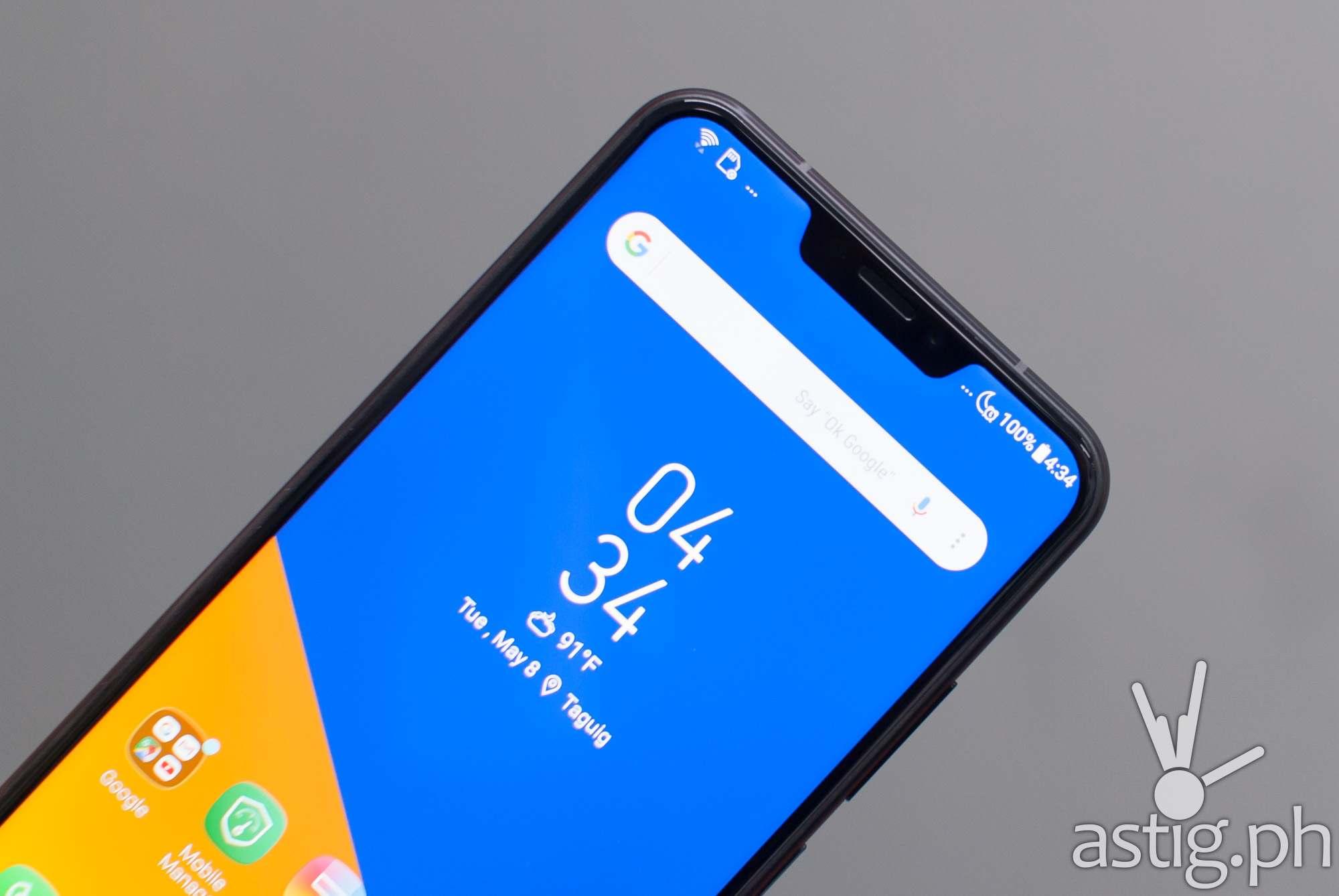Zenfone 5 front - notch, selfie camera