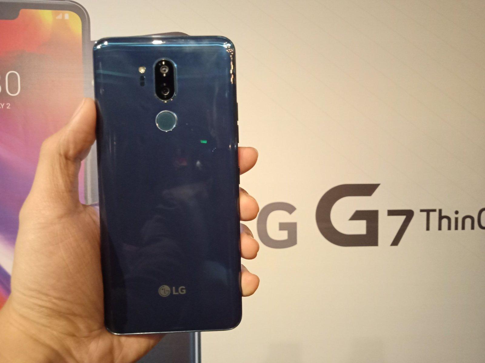 LG G7 ThinQ back handheld