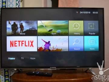 AVision 43FL801 Smart LED TV - Smart hub