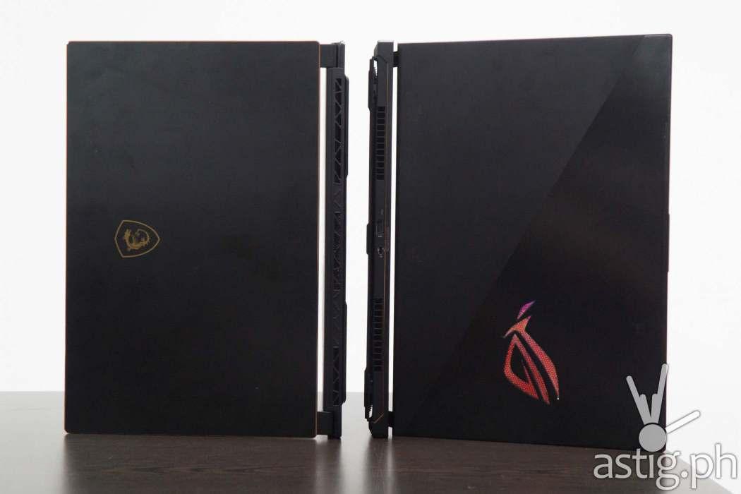 ROG Zephyrus S vs MSI GS65 Stealth Thin 8RF - Back