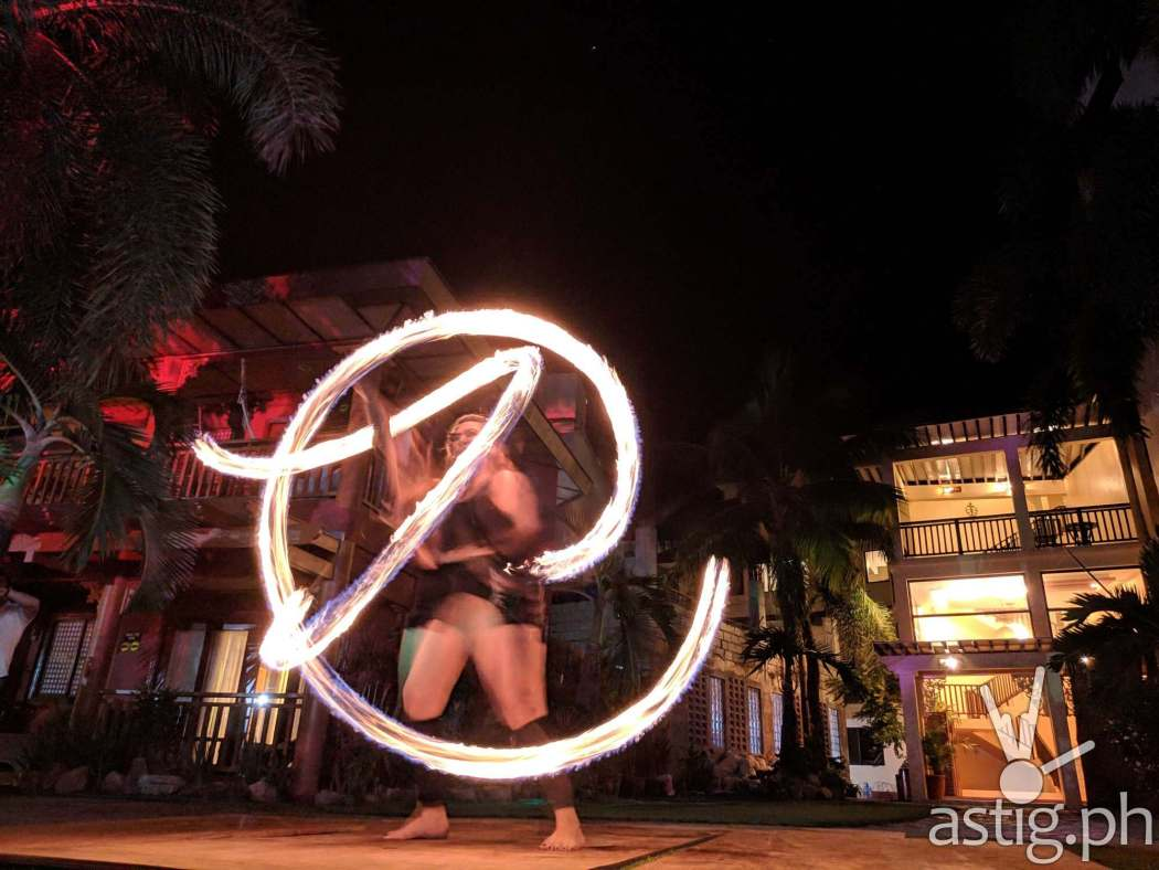 Fire dancer Boracay Philippines re-opening smartphone photo - ASUS ZenFone 5 by Den Uy of TechKuya