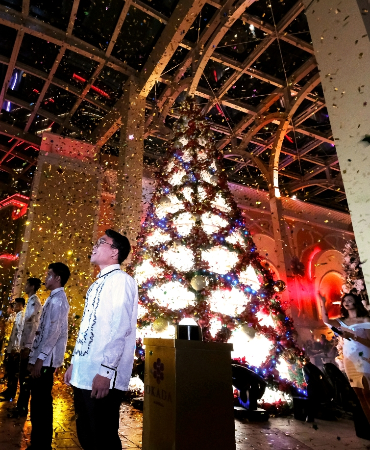 Okada Manila grand Christmas tree