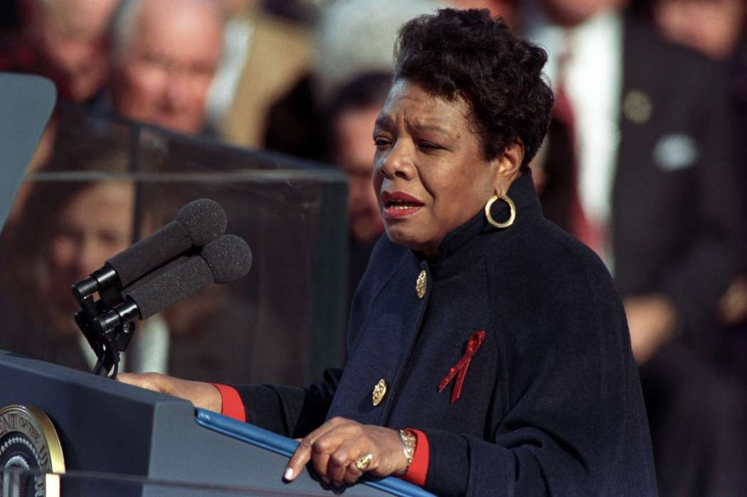 Maya Angelou at Clinton inauguration (courtesy William J. Clinton Presidential Library)