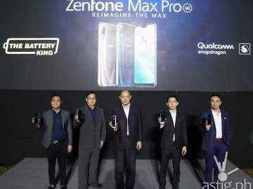From left to right: ASUS Philippines Marketing Manager for Systems Group, Anvey Factora, ASUS Global Senior Marketing Manager, Andrew Chan, ASUS Philippines Country Manager, George Su, ASUS Philippines Product Manager for Smartphones, Lenny Lin, and ASUS Philippines Product Marketer for Smartphones, Francis Garcia