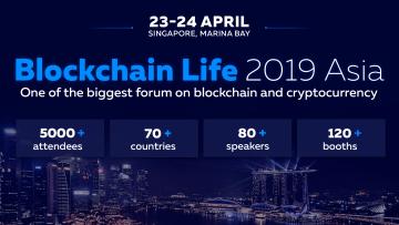 Blockchain Life 2019 event poster Singapore Philippines