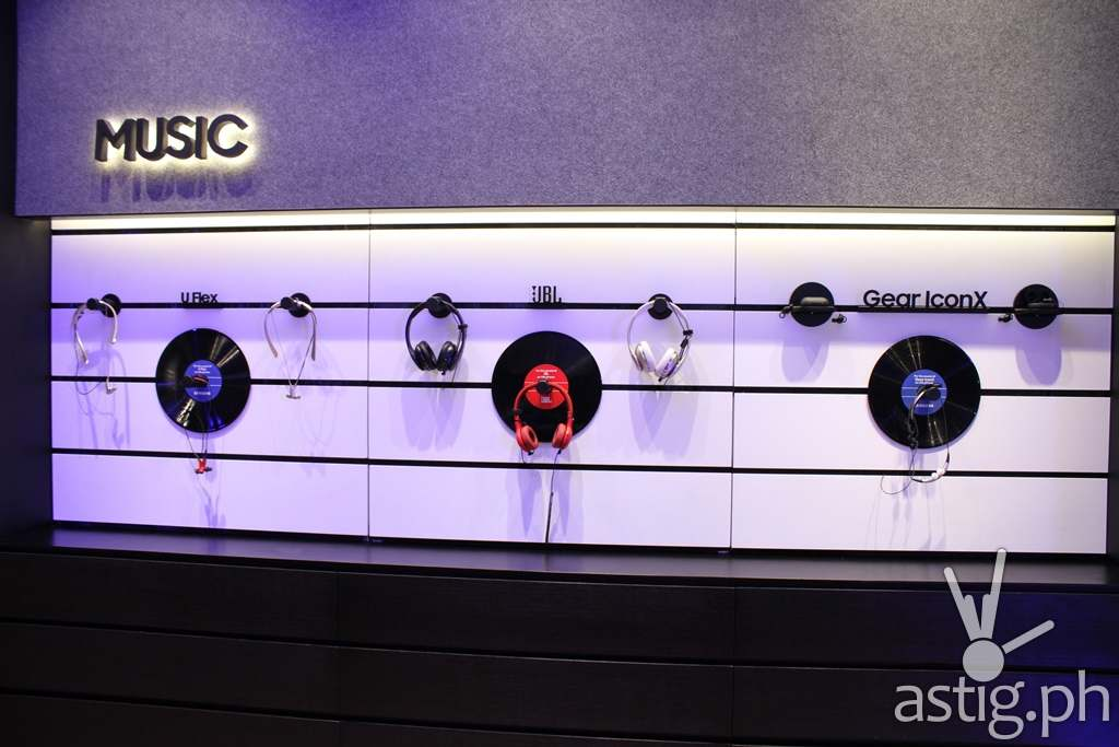 Music Section - Samsung flagship store Manila Philippines