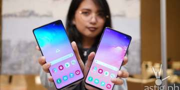 Samsung Galaxy S10 and Samsung Galaxy S10 Plus front showing Infinity-O screen