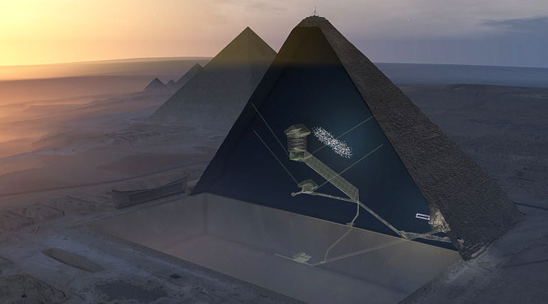 Scientists Found A Hidden Chamber In The Great Pyramid Of Giza