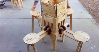 The Eizzy Folding Table Brings Woodworking Ingenuity To A New Level