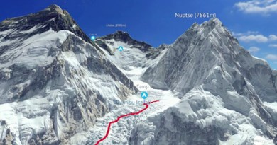 Interactive 3D Map of Mount Everest