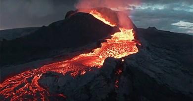 Epic Drone Crash into Erupting Volcano