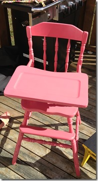 high chair after