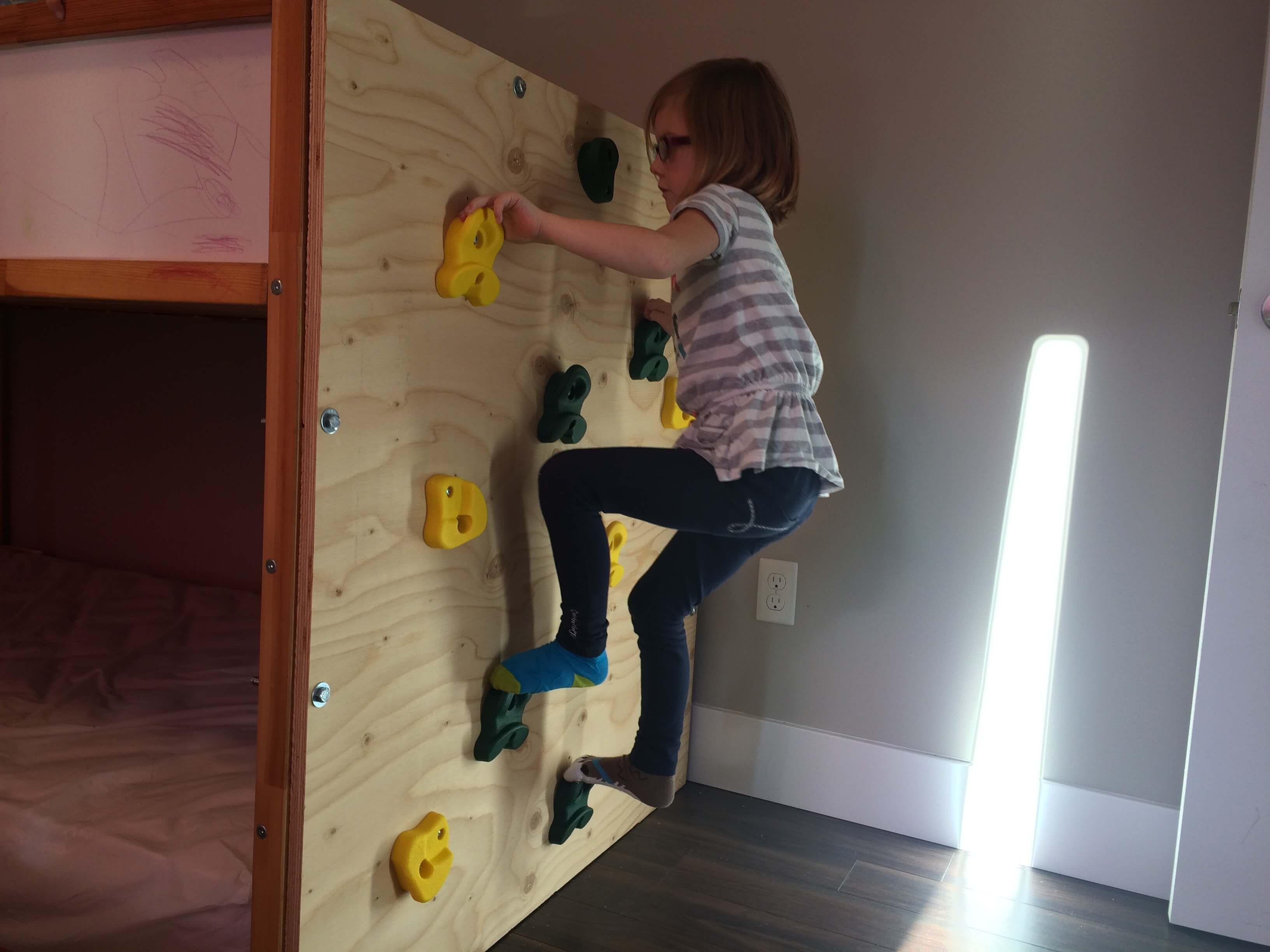 Ikea Kura Bed Climbing Wall Hack As Time Flies