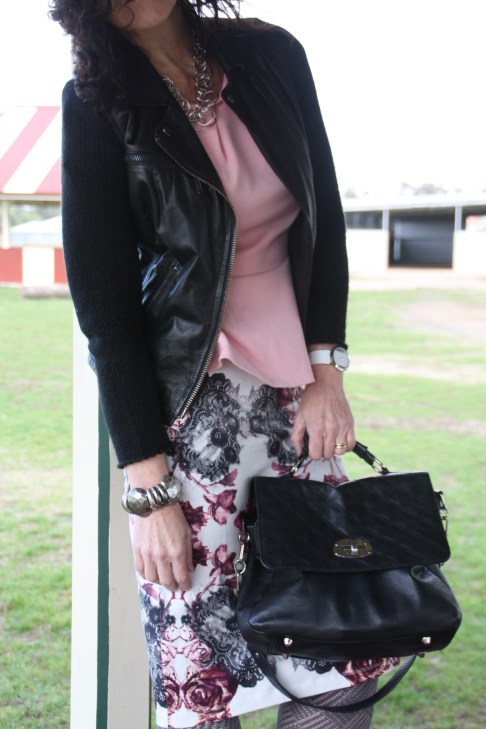 How to wear a rose print and not look like a granny